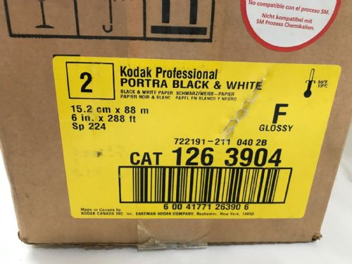 "KODAK PORTRAIT BLACK ND WHITE GLOSSY F ROLLS OF 2 IN THE BOX  PAPER 6"" X 288' LO"